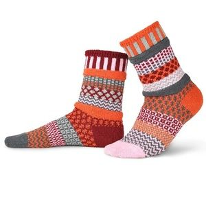 SOLMATE SOCKS Recycled Persimmon Crew Sock